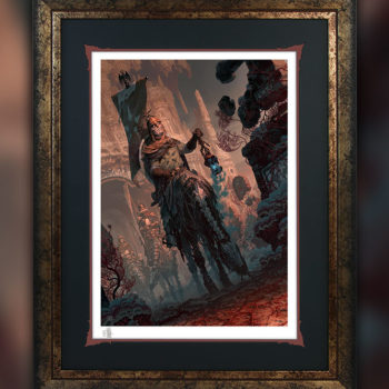 Underworld Quest Knight: Relic Ravlatch Fine Art Print by Fabian Schlaga Black Framed Edition