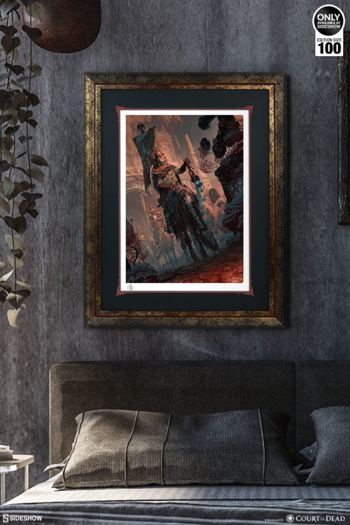Underworld Quest Knight: Relic Ravlatch Fine Art Print by Fabian Schlaga Framed Environment Shot