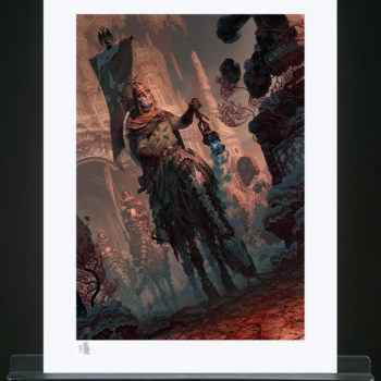 Underworld Quest Knight: Relic Ravlatch Fine Art Print by Fabian Schlaga Unframed