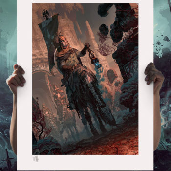 Underworld Quest Knight: Relic Ravlatch Fine Art Print by Fabian Schlaga Unframed 2