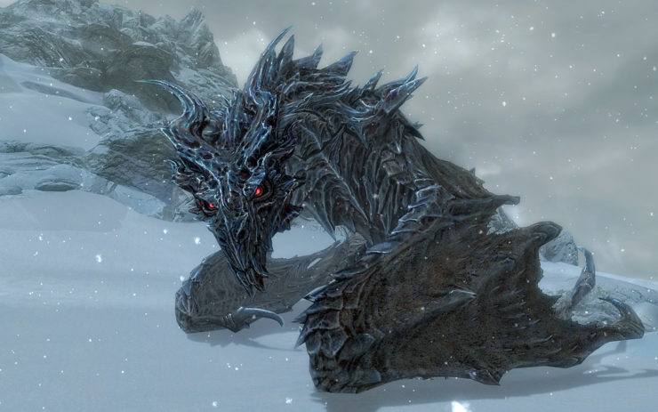 Alduin from Elder Scrolls: Skyrim- Top 10 Dragons in Gaming