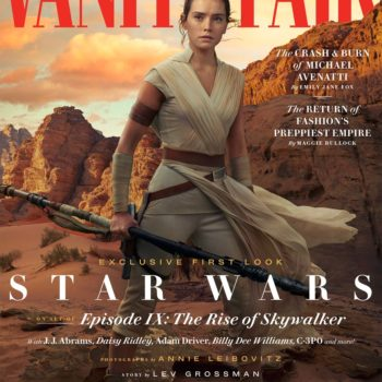 Rey on the cover of Vanity Fair for Star Wars: The Rise of Skywalker