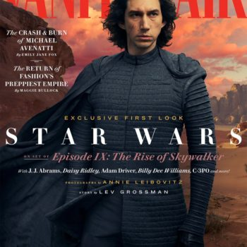 Kylo Ren on Vanity Fair Cover for Star Wars: The Rise of Skywalker