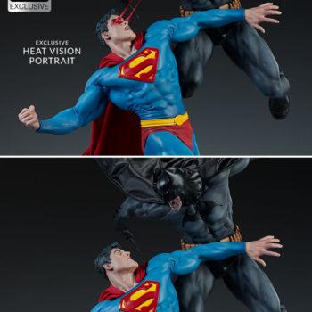 Batman vs Superman Diorama Exclusive Edition- Portrait Comparison between Superman Collector Edition and Superman with Heat Vision Eyes