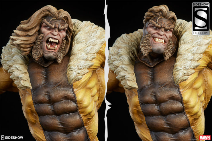 Sabretooth Premium Format™ Figure Exclusive Edition Portrait Comparison between Modern and Classic Head