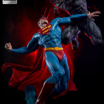 Batman vs Superman Diorama Exclusive Edition- Superman Heat Vision Eyes