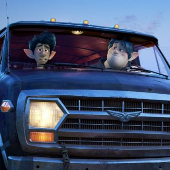 Onward Teaser Photos with Two Elf Brothers Sitting in their van