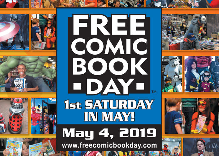 Celebrate Free Comic Book Day 2019 on Saturday, May 4th!