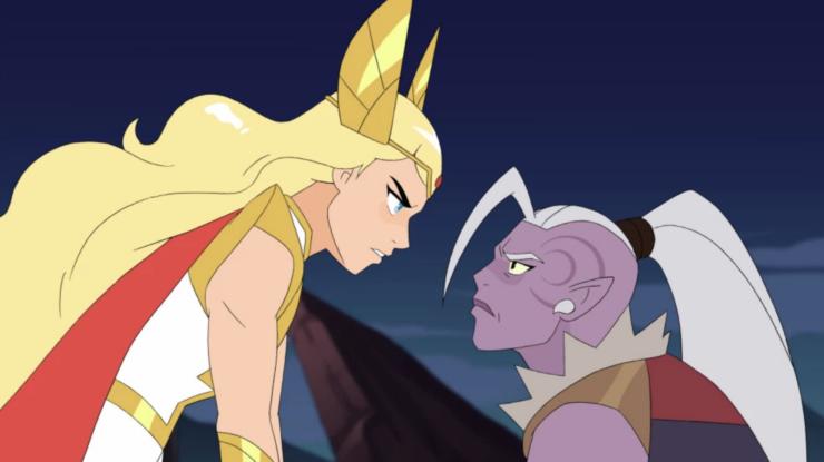 She-ra faces Huntara
