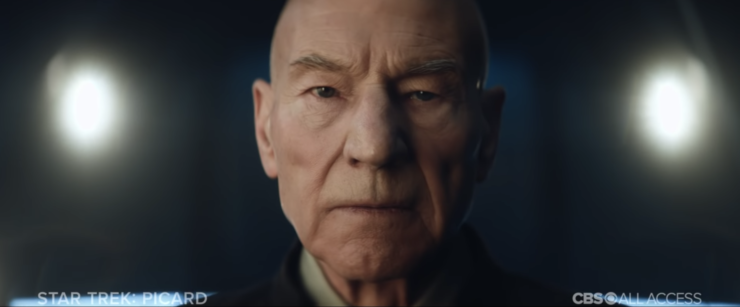 Admiral Picard in the teaser for Star Trek: Picard Series