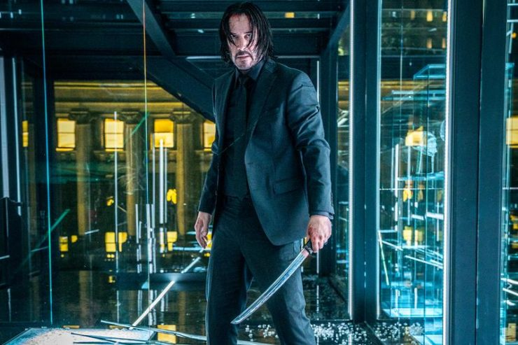 John Wick Standing with Two blades