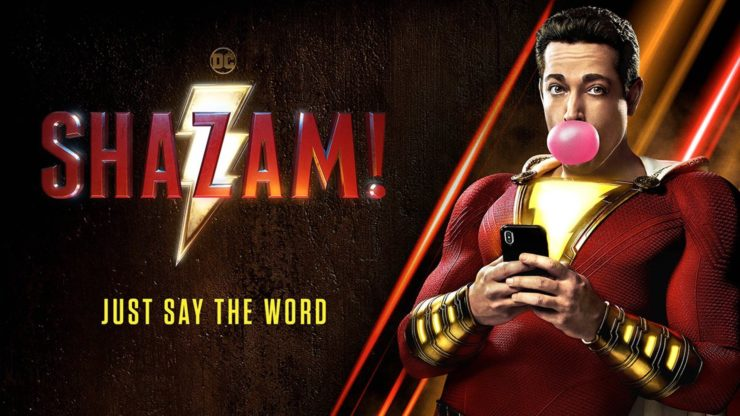 "Shazam Poster saying ""Just Say the Word"""