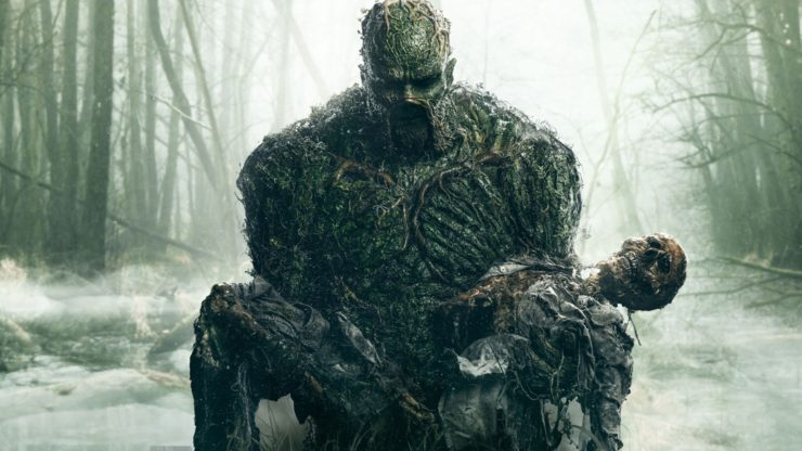 Swamp Thing DC Comics New Trailer Swamp Thing Holding a Dead Body