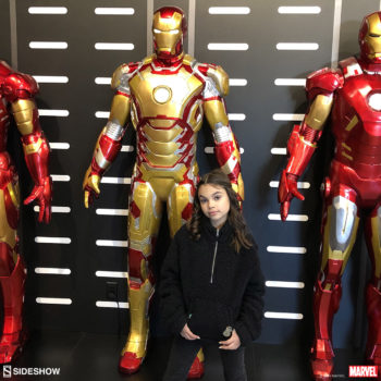 Ariana Greenblatt and the Life-Size Iron Man Figures