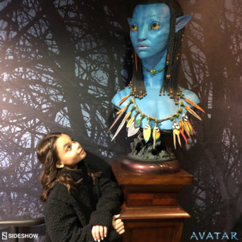 Ariana Greenblatt and the Neytiri Bust