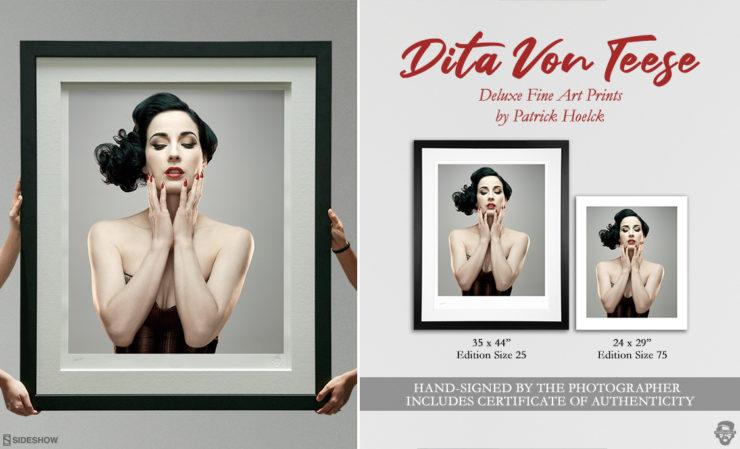 Patrick Hoelck Dita Von Teese Deluxe Fine Art Print