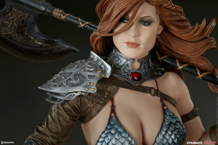 Red Sonja Figure Gazing Off in the Distance