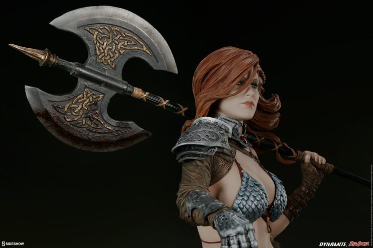 Red Sonja Figure Brandishing Her Axe