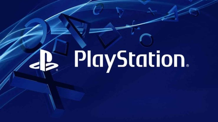 PlayStation Logo over intricate blue blackground