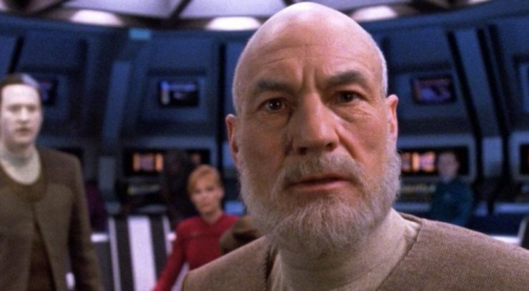 Star Trek Picard Looking Shocked