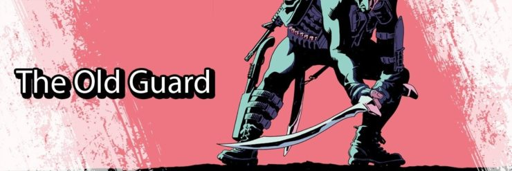 The Old Guard Comic header showing a man with a long sword