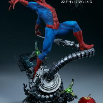 """Spider-Man Premium Format™ Figure Measurements- 22.5"""" H x 17"""" W x 16"""" D"""