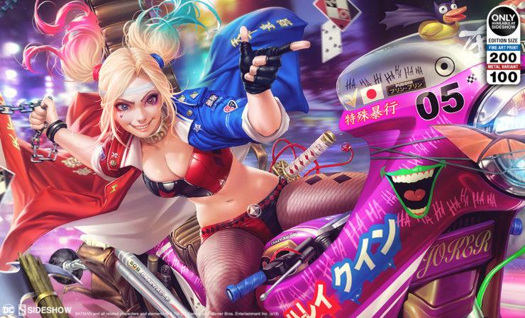 Tokyo Harley Quinn Fine Art Print