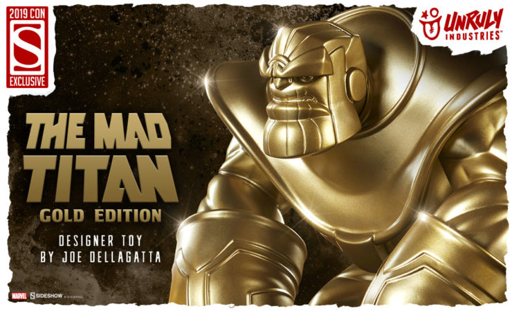 The Mad Titan (Gold Edition) Designer Toy