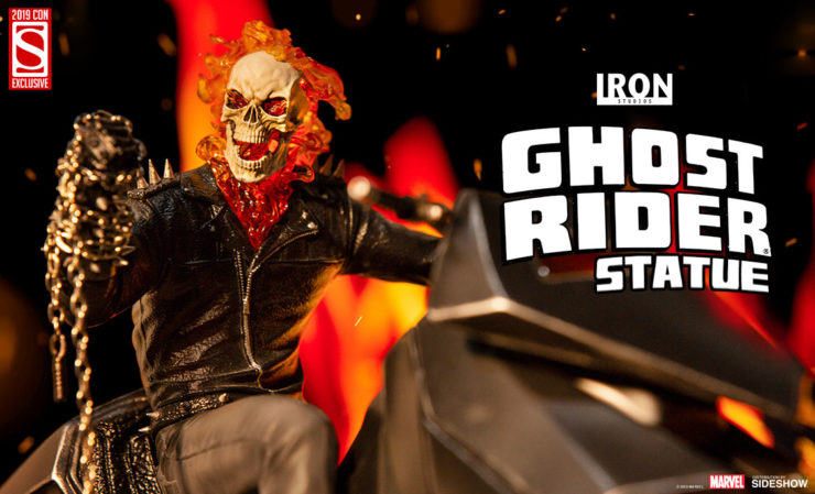 Iron Studios- Ghost Rider on Motorcycle 1:10 Scale Statue