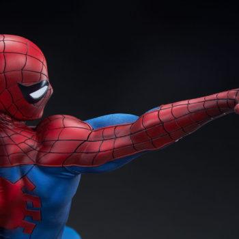 Spider-Man Premium Format™ Figure Back of Web-shooting arm detail