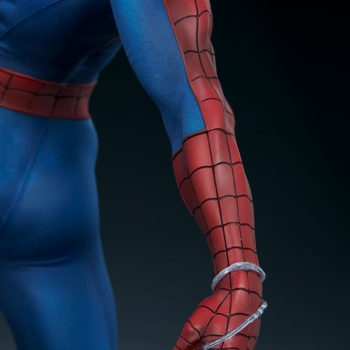 Spider-Man Premium Format™ Figure Close-Up on Web-holding Hand 1