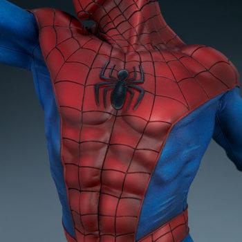 Spider-Man Premium Format™ Figure Detail of Abdominal Muscles and Suit Sculpture