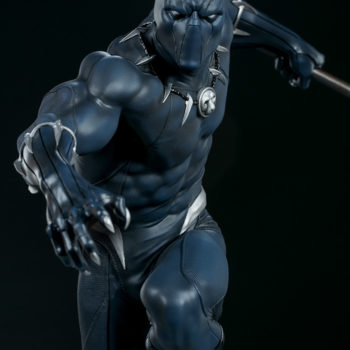 Black Panther Statue- Avengers Assemble Collection Front View Detail Image