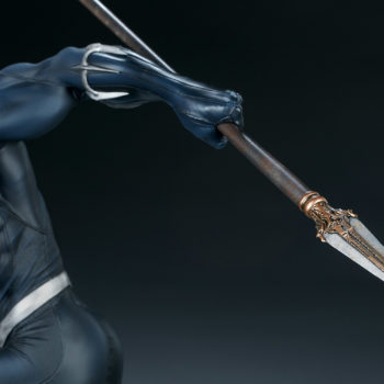 Black Panther Statue- Avengers Assemble Collection Wakandan Spear Detail Shot