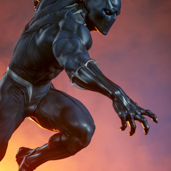 Black Panther Statue- Avengers Assemble Collection Dramatic Lighting 3 with Close Up on Upper Body