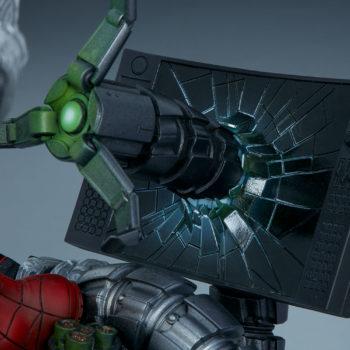 Spider-Man Premium Format™ Figure Doc Ock Claw through Oscorp Computer Monitor