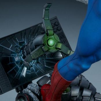 Spider-Man Premium Format™ Figure Doc Ock Claw Through Oscorp Computer Monitor Detail