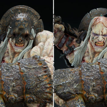 Odium: Reincarnated Rage Maquette Mask on and off Portrait Comparisons