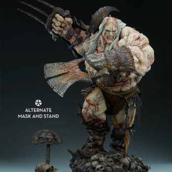 Odium: Reincarnated Rage Maquette With Mask Display Stand