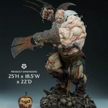 "Odium: Reincarnated Rage Maquette Measurements- 25"" H x 18.5"" W x 22"" D"