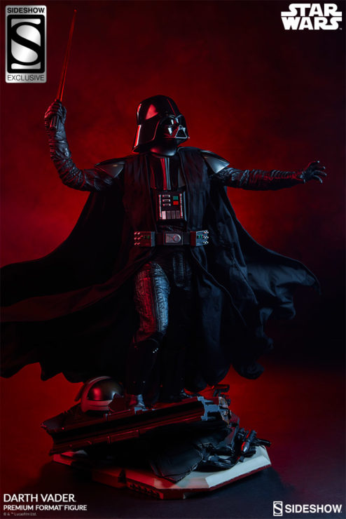 Darth Vader Premium Format™ Figure Exclusive Edition Dramatic Lighting with Red Background 2