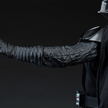 Darth Vader Premium Format™ Figure Left Arm Extended Back View with Open Palm