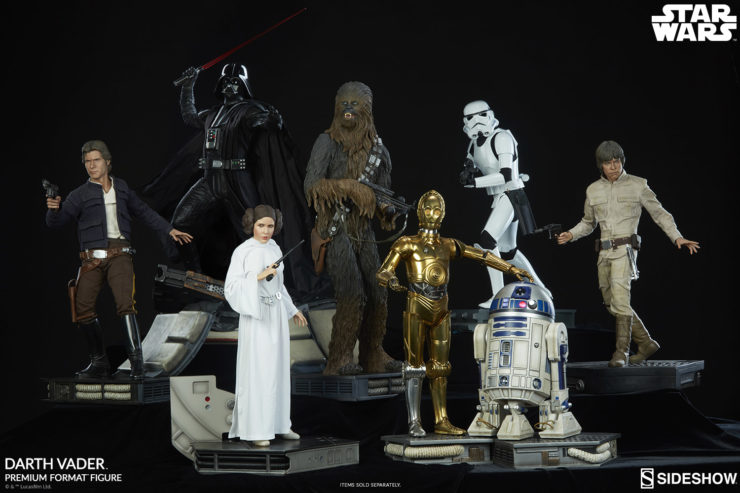 Star Wars Premium Format™ Figure Collection- Han Solo, Darth Vader, Princess Leia, C-3PO, R2-D2, Luke Skywalker, Chewbacca, Storm Trooper
