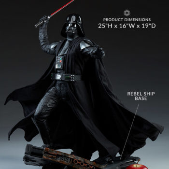 "Darth Vader Premium Format™ Figure Measurements- 25"" H x 16"" W x 19"" D"