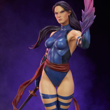 Psylocke Premium Format™ Figure Exclusive Edition Dramatic Lighting with Purple Background 2
