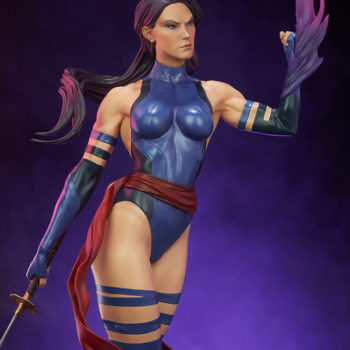 Psylocke Premium Format™ Figure Exclusive Edition Dramatic Lighting with Purple Background 1
