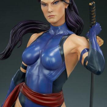 Psylocke Premium Format™ Figure Upper Body Detail Close Up 1