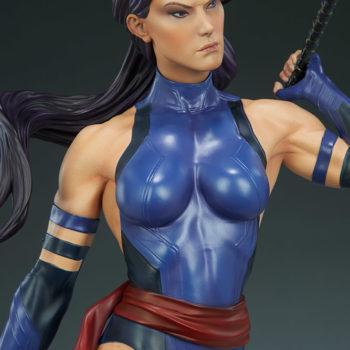 Psylocke Premium Format™ Figure Upper Body Detail Close Up 2