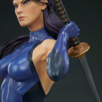 Psylocke Premium Format™ Figure Portrait and Katana Arm Close Up