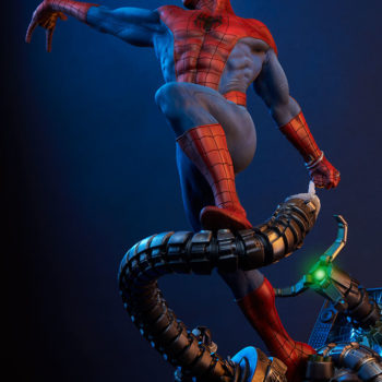 Spider-Man Premium Format™ Figure with Dramatic Background, Tentacle Lights On 1